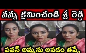 Actress sri reddy say sorry to pawan kalyan mother | Tollywood casting couch