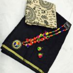 New Chanderi Cotton Silk Saree With Necklace and Earrings